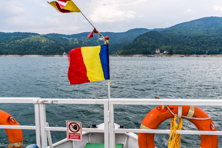View from the deck with Romanian flag