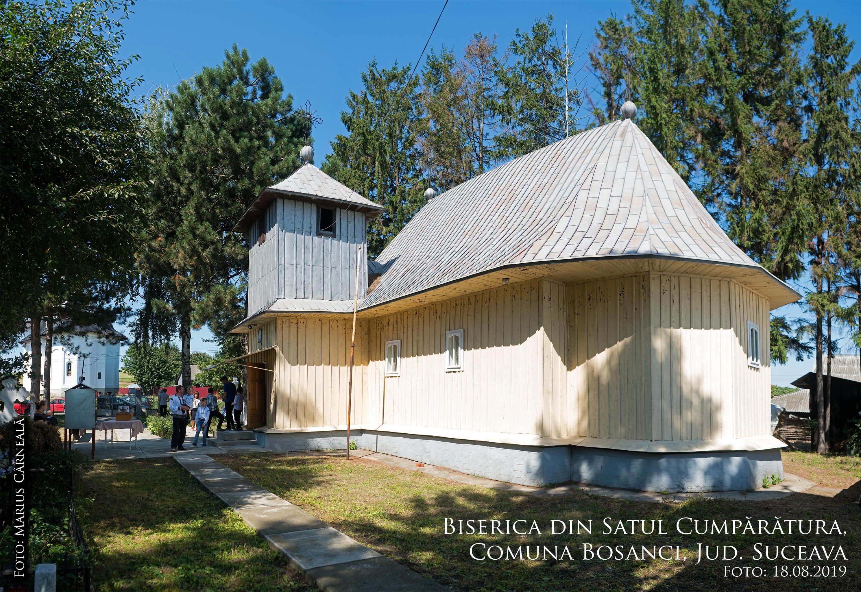 Biserica veche din Cumparatura, Suceava